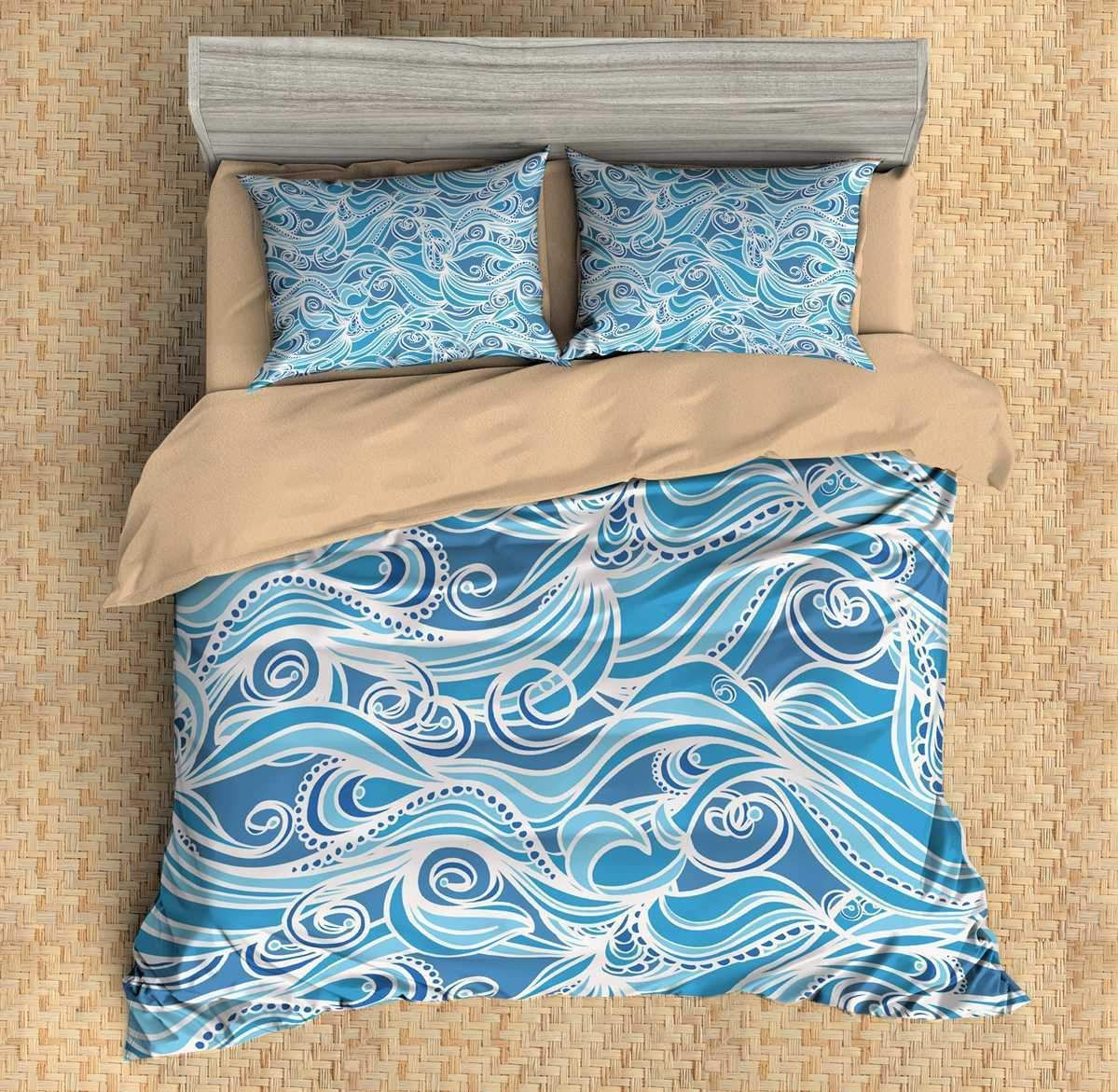 Waves #7 3D Personalized Customized Bedding Sets Duvet Cover Bedroom Sets Bedset Bedlinen