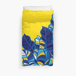 Pop Foliage On Yellow 3D Personalized Customized Duvet Cover Bedding Sets Bedset Bedroom Set