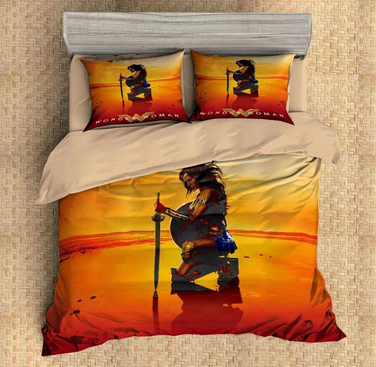 Wonder Woman #5 3D Personalized Customized Bedding Sets Duvet Cover Bedroom Sets Bedset Bedlinen