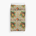 Autumn Robin Pattern 3D Personalized Customized Duvet Cover Bedding Sets Bedset Bedroom Set