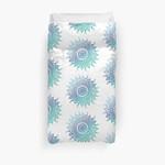Blue Gradient Mandala 3D Personalized Customized Duvet Cover Bedding Sets Bedset Bedroom Set