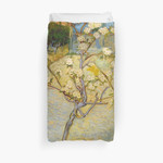1888-Vincent Van Gogh-Small Pear Tree In Blossom-46X73 3D Personalized Customized Duvet Cover Bedding Sets Bedset Bedroom Set