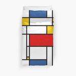 Mondrian Modern De Stijl 3D Personalized Customized Duvet Cover Bedding Sets Bedset Bedroom Set