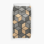 Concrete And Wood Cubes 3D Personalized Customized Duvet Cover Bedding Sets Bedset Bedroom Set