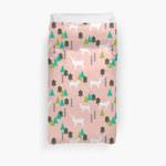 Reindeer Forest - Blush By Andrea Lauren 3D Personalized Customized Duvet Cover Bedding Sets Bedset Bedroom Set