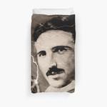 Nikola Tesla - Sepia 3D Personalized Customized Duvet Cover Bedding Sets Bedset Bedroom Set