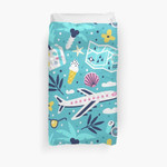 Travel And Summer Vacation Seamless Pattern. 3D Personalized Customized Duvet Cover Bedding Sets Bedset Bedroom Set