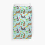 Australian Cattle Dog Beach Tropical Pet Friendly Dog Breed Dog Pattern Art By Petfriendly 3D Personalized Customized Duvet Cover Bedding Sets Bedset Bedroom Set