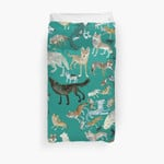Wolves Of The World (Green Pattern) 3D Personalized Customized Duvet Cover Bedding Sets Bedset Bedroom Set