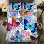 DefaultHydrangea Butterfly3D Customize Bedding Set Duvet Cover SetBedroom Set Bedlinen