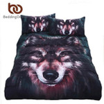 5pcs Bed in a Bag Wolf 3d Aniaml Printed Bed Cover Twin Full Queen King Home Textiles3D Customize Bedding Set Duvet Cover SetBedroom Set Bedlinen