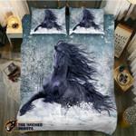DefaultPowerful Black Horse Winters3D Customize Bedding Set Duvet Cover SetBedroom Set Bedlinen