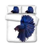 3D Design Fish Pattern Queen Kingize Duvet Cover Pillow CoverlUnderwater World Fish3D Customize Bedding Set Duvet Cover SetBedroom Set Bedlinen