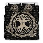 Viking Yggdrasil 3D Customize Bedding Set Duvet Cover SetBedroom Set Bedlinen