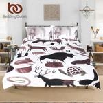 Wild AnimalsCartoon for Kids etElephant Elk Home Textiles3D Customize Bedding Set Duvet Cover SetBedroom Set Bedlinen