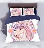 DefaultFloral Unicorn3D Customize Bedding Set Duvet Cover SetBedroom Set Bedlinen