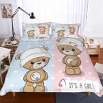 A Pair of Cute Teddy Bears Theme Digital PrintingHousehold Itemss3D Customize Bedding Set Duvet Cover SetBedroom Set Bedlinen