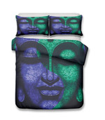 2019 3d PrintBuddha Green Theme Buddhists3D Customize Bedding Set Duvet Cover SetBedroom Set Bedlinen
