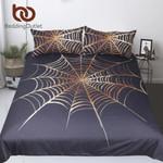 Cobweb  King Golden and Black Boys  Microfiber Home Textilespiderweb Bedclothes 3D Customize Bedding Set/ Duvet Cover Set/  Bedroom Set/ Bedlinen