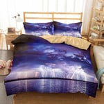 Digital Printing Lightning Hurricane Florence Path Bedroom Homeupplies 3 Pieces3D Customize Bedding Set Duvet Cover SetBedroom Set Bedlinen