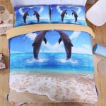 3D Dolphin 4PCS  3D Customized Bedding Sets Duvet Cover Bedlinen Bed set