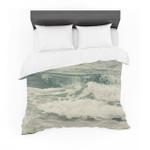 "Cristina Mitchell ""Crashing Waves"" Teal Ocean Featherweight3D Customize Bedding Set Duvet Cover SetBedroom Set Bedlinen"