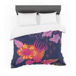 "Annelineophia ""Tropical Paradise"" Purple Floral Featherweight3D Customize Bedding Set Duvet Cover SetBedroom Set Bedlinen"