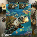 Default ea Turtle Portrait3D Customize Bedding Set Duvet Cover SetBedroom Set Bedlinen