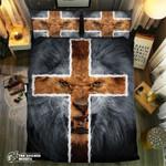 Golden Cross Fierce Lion Collection #092533D Customize Bedding Set Duvet Cover SetBedroom Set Bedlinen