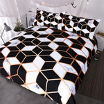 BlessLiving GeometricBlack White et Marble Print Blocks Cube Bed Cover Fashionable Bedspreads Queen3D Customize Bedding Set Duvet Cover SetBedroom Set Bedlinen
