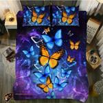 DefaultBlue And Yellow Monarch Butterfly3D Customize Bedding Set Duvet Cover SetBedroom Set Bedlinen