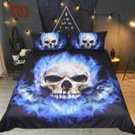 FlamekullKing 3D Print GothicBlue Fire BedclothesFashion Home Textiles For Boys3D Customize Bedding Set Duvet Cover SetBedroom Set Bedlinen