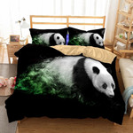 Panda Coming Out Of Themoke 3D Customize Bedding Set Duvet Cover SetBedroom Set Bedlinen