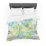 """Jacqueline Milton """"Trumpet Vine"""" Aqua Green Cotton3D Customize Bedding Set Duvet Cover SetBedroom Set Bedlinen"""