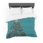 "Brienne Jepkema ""Peacock Blue II"" Teal Green Featherweight3D Customize Bedding Set Duvet Cover SetBedroom Set Bedlinen"