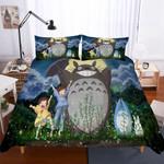 3 Pieceet Totoro Pattern Theme Digital Printing3D Customize Bedding Set Duvet Cover SetBedroom Set Bedlinen