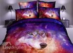 DefaultGalaxy Wolf3D Customize Bedding Set Duvet Cover SetBedroom Set Bedlinen