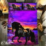 Sunset Bowing Horse #09192 3D Customize Bedding Set Duvet Cover SetBedroom Set Bedlinen