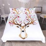 Elk  Queen Floral Moose  Animal Reindeer Bedspreads for Kids Deer Bedspread et 3D Customize Bedding Set/ Duvet Cover Set/  Bedroom Set/ Bedlinen