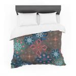 "Jolene Heckman ""Floral Arrangements"" Brown Flowers Cotton3D Customize Bedding Set Duvet Cover SetBedroom Set Bedlinen"
