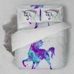 Unicorn Color Painting  3D Customized Bedding Sets Duvet Cover Bedlinen Bed set