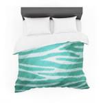 "Nick Atkinson ""Teal Zebra Print Texture"" Cotton3D Customize Bedding Set Duvet Cover SetBedroom Set Bedlinen"