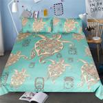 DefaultGreen Yellow Turtles3D Customize Bedding Set Duvet Cover SetBedroom Set Bedlinen