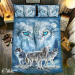 Howling Wolf Eyes #092173D Customize Bedding Set Duvet Cover SetBedroom Set Bedlinen