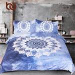 Vintage Cobalt Blue MandalaHippie Gypsy Bohemian Mandala Floral Paisley Bedclothes3D Customize Bedding Set Duvet Cover SetBedroom Set Bedlinen