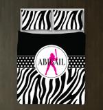 Personalized Zebra Printoftballfor Girls andhams for Teens oftball Player Gift ports Team DecorBlack, White, Hot Pink3D Customize Bedding Set Duvet Cover SetBedroom Set Bedlinen