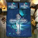 Butterfly Christian Cross #092513D Customize Bedding Set Duvet Cover SetBedroom Set Bedlinen