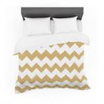 """Candy Cane Gold"" Chevron Cotton3D Customize Bedding Set Duvet Cover SetBedroom Set Bedlinen"