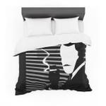 """Kevin Manley """"Vincent"""" Black White Featherweight3D Customize Bedding Set Duvet Cover SetBedroom Set Bedlinen"""