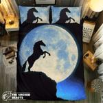 Midnight Moon Horse#09127 3D Customize Bedding Set Duvet Cover SetBedroom Set Bedlinen